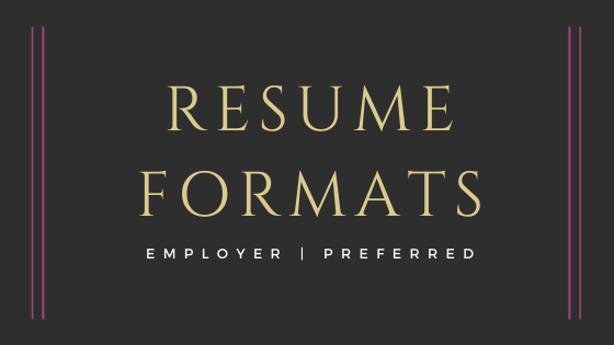 employer preferred resume formats