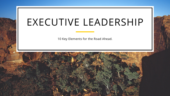 The road to executive leadership